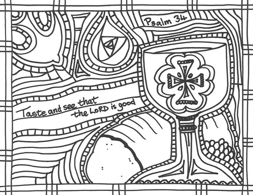 Psalm34 coloring page