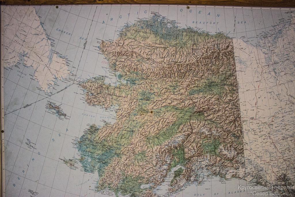 Карта Аляски
