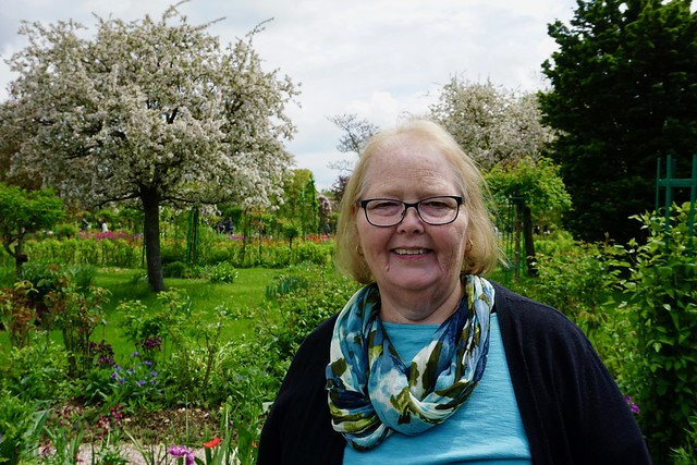 Lisa in Monet's Garden, Giverney
