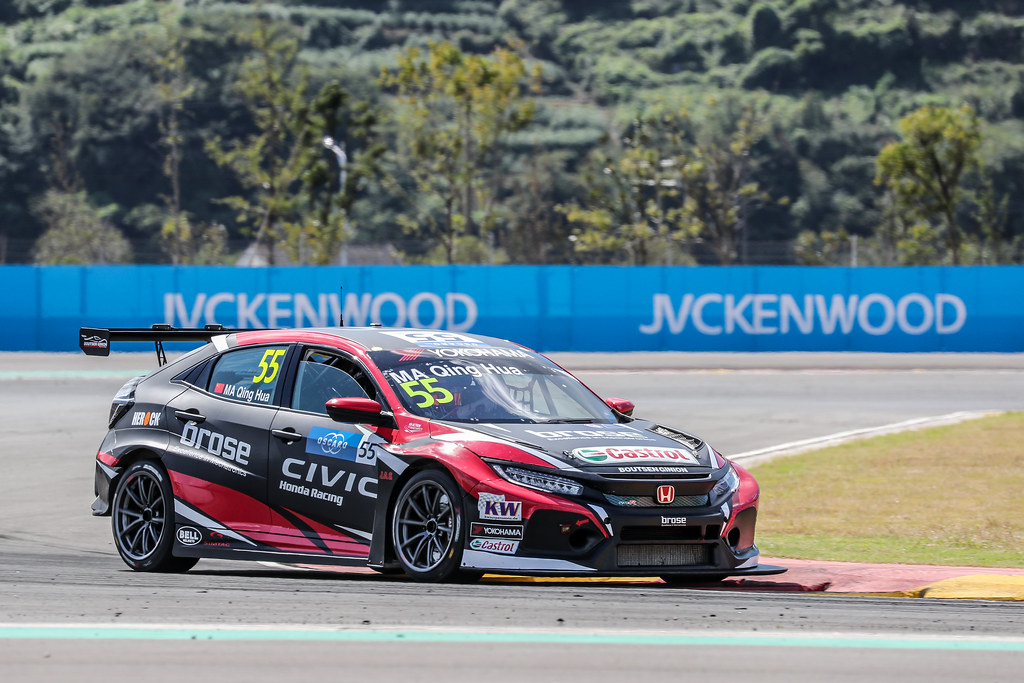55 QING HUA Ma (chn), Honda Civic TCR team Boutsen Ginion Racing, actionduring the 2018 FIA WTCR World Touring Car cup of China, at Ningbo  from September 28 to 30 - Photo Marc de Mattia / DPPI