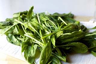 a great heap of spinach