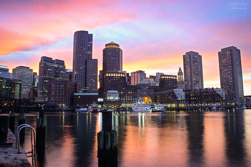 USA | Boston Harbor Sunset