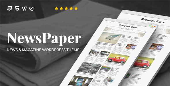 NewsPaper v3.5 – News & Magazine WordPress Theme