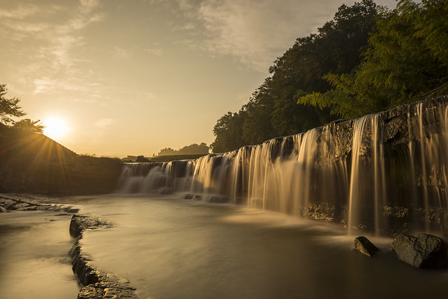 Kuro waterfall at sunrise