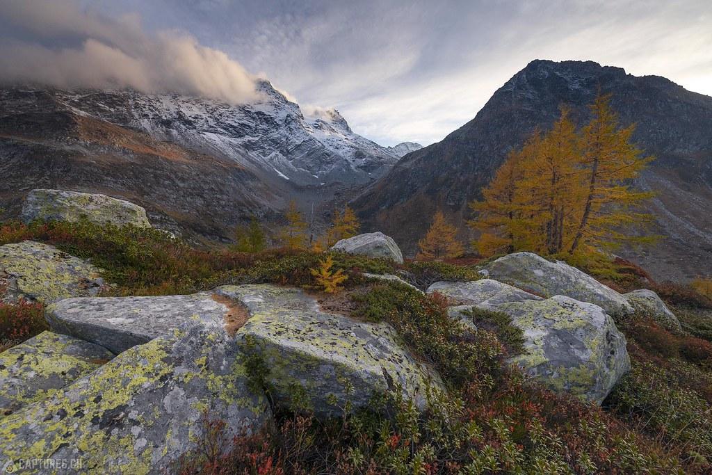 Evening in the fall - Binntal