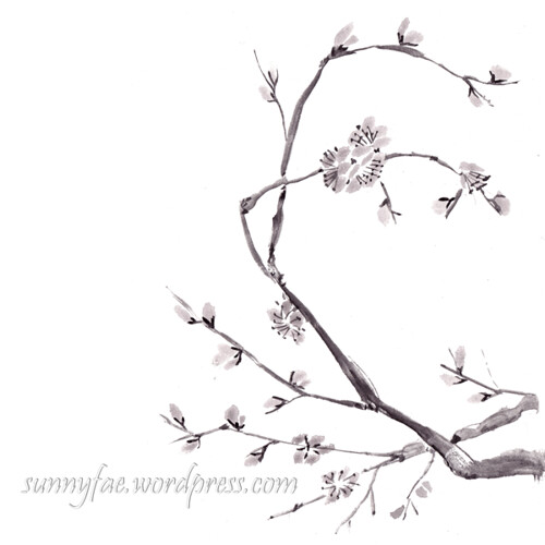 inkktober day 11 plum blossom