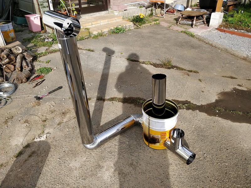 ビニールハウス用のストーブを作る (28)
