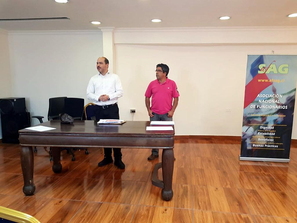 Saludo presidente de ANEF, Carlos Insunza, a dirigentes regionales AFSAG en diplomado gremial – 26 Octubre 2018