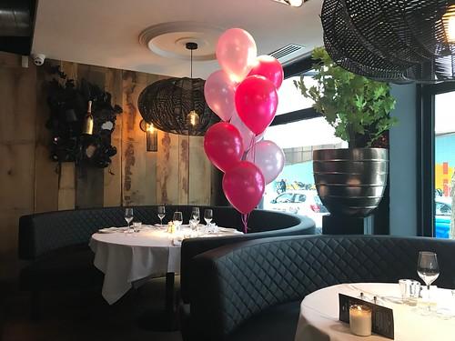 Tafeldecoratie 8ballonnen Babyshower Oysterclub Rotterdam