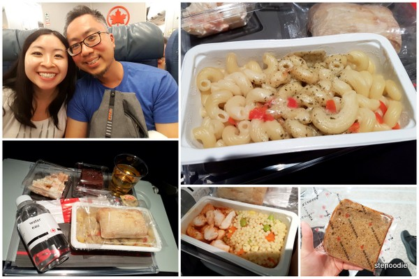 Air Canada meal from Montreal to Rome