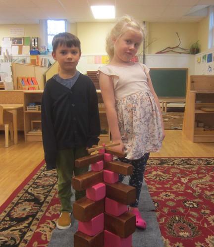 a criss cross tower pattern