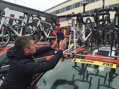 UCI mechanical doping checks, BMC Racing - Photo of Saint-Lô