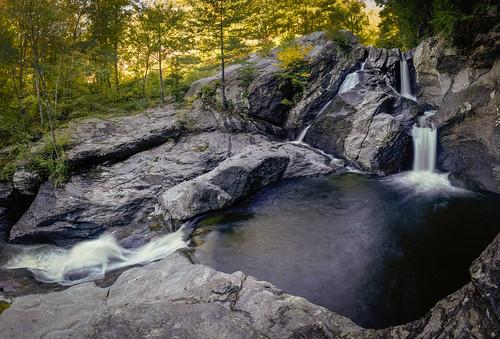 waterfall waterbury vermont unitedstates