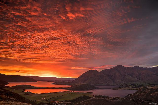 When early sunlight illuminates New Zealand landscapes