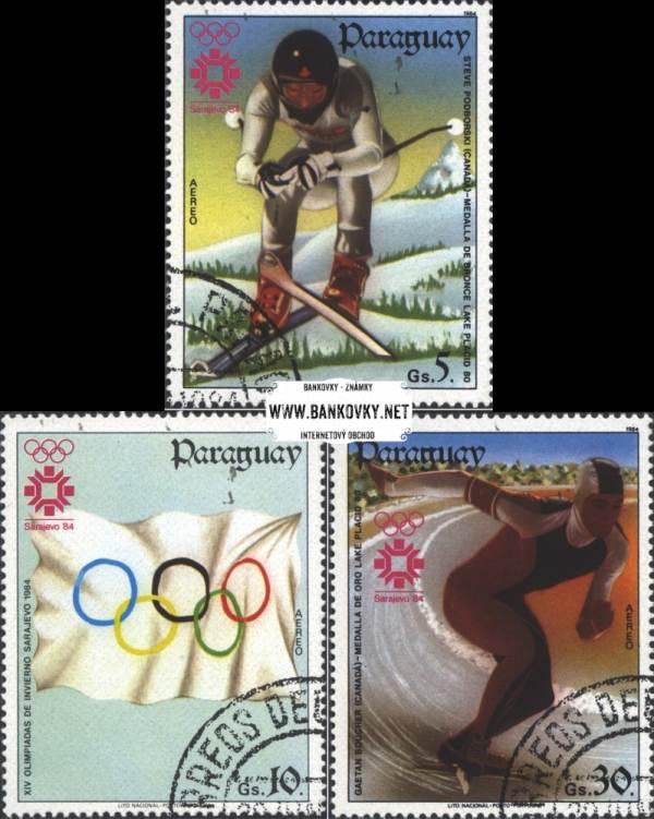 Známky Paraguay 1984 ZOH Sarajevo, razítkovaná séria