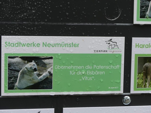 Tierpark Neumünster, Patenschild
