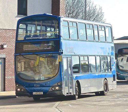 LJ03 MVU 'Vision / UK Coachways'. DAF DB250 / Wright Gemini on 'Dennis Basford's railsroadsrunways.blogspot.co.uk'