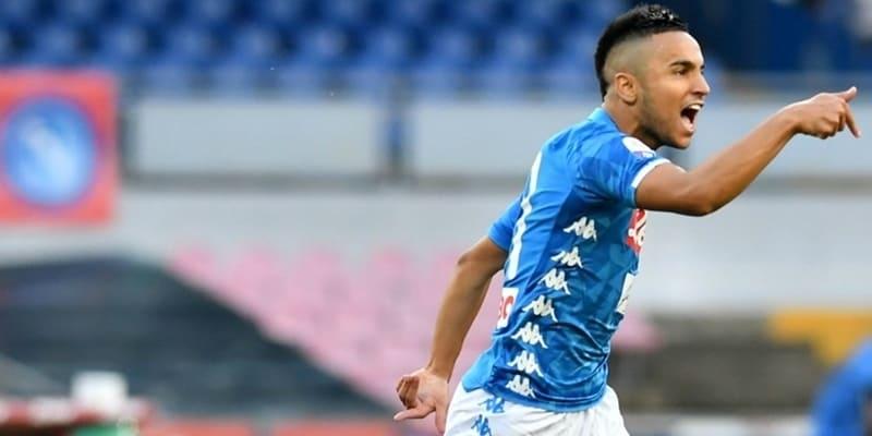 Ounas membuka rekening gol Serie A di Napoli