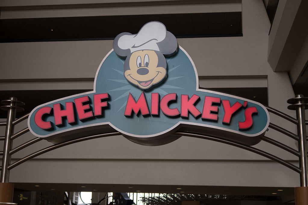 Chef Mickey's Sign at The Contemporary.