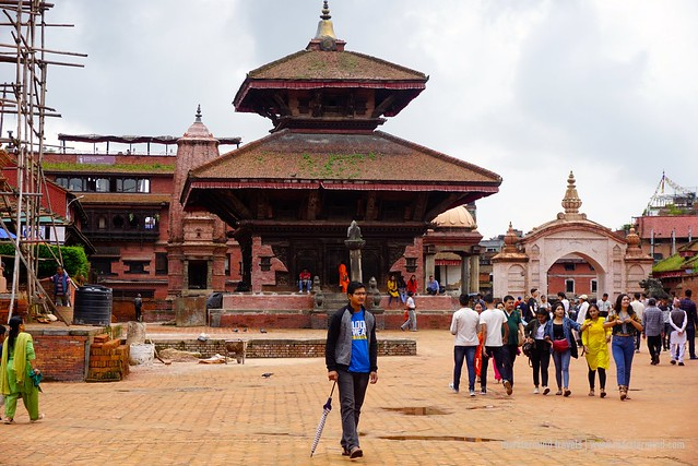 Tourists in Bhaktapur Durbar Square