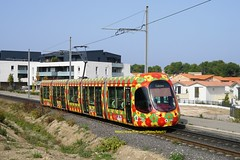 Transports de Montpellier Meditteranee Metropole, Alstom Citadis 302 2052 - Ligne 2, Jacou - Photo of Baillargues