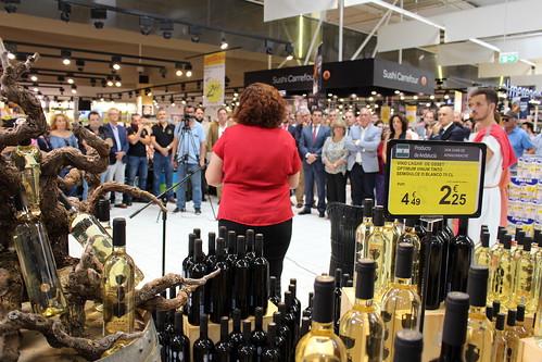 Presentación de los Vinos Lagar de Osset en Carrefour