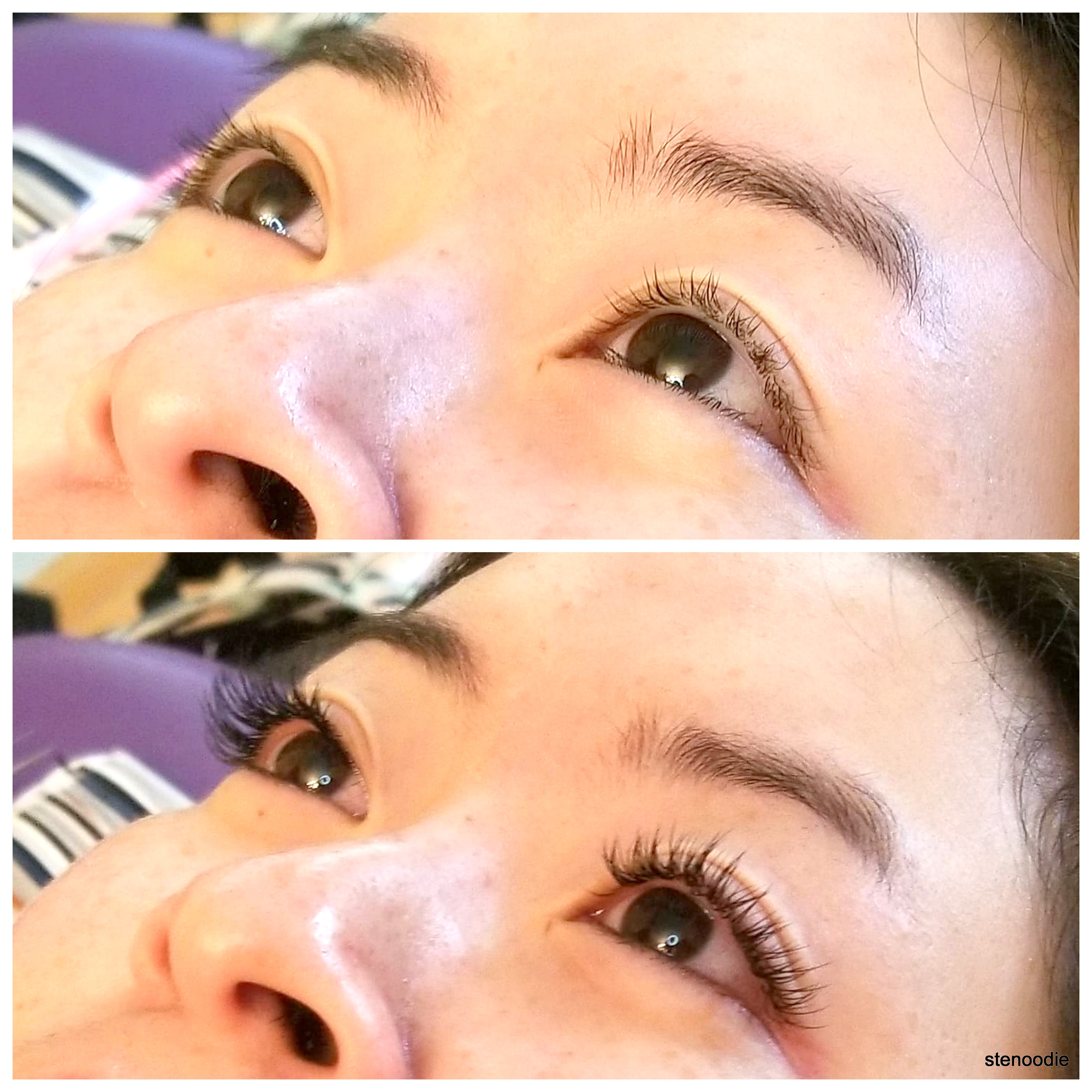 Lashes by Sarah before and after shots