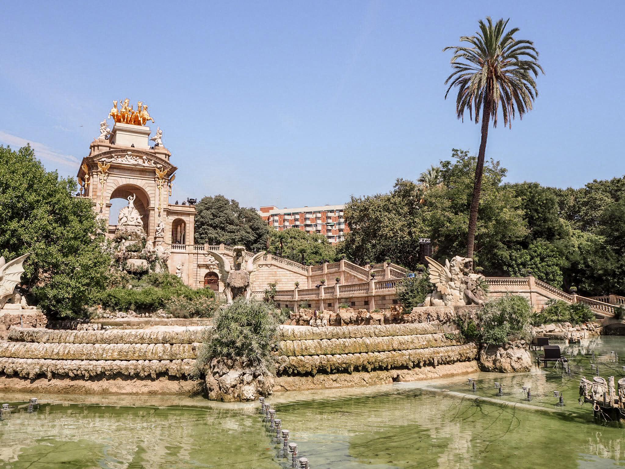 Parc de la Ciutadella fountain Cascada