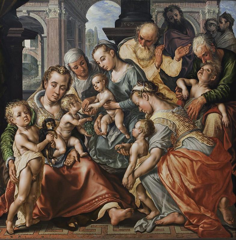 Joachim Beuckelaer - The Holy Kinship (1567)