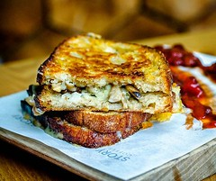 Dreary morning calls for something warm and comforting for #breakfast . Golden #toastie with cheesy #mushrooms and #truffle oil @storycoffeeldn would work nicely right now! . . #igfood #foodgram  #buzzfeast #f52grams #feedfeed #forkyeah #EEEEEATS  #foodie
