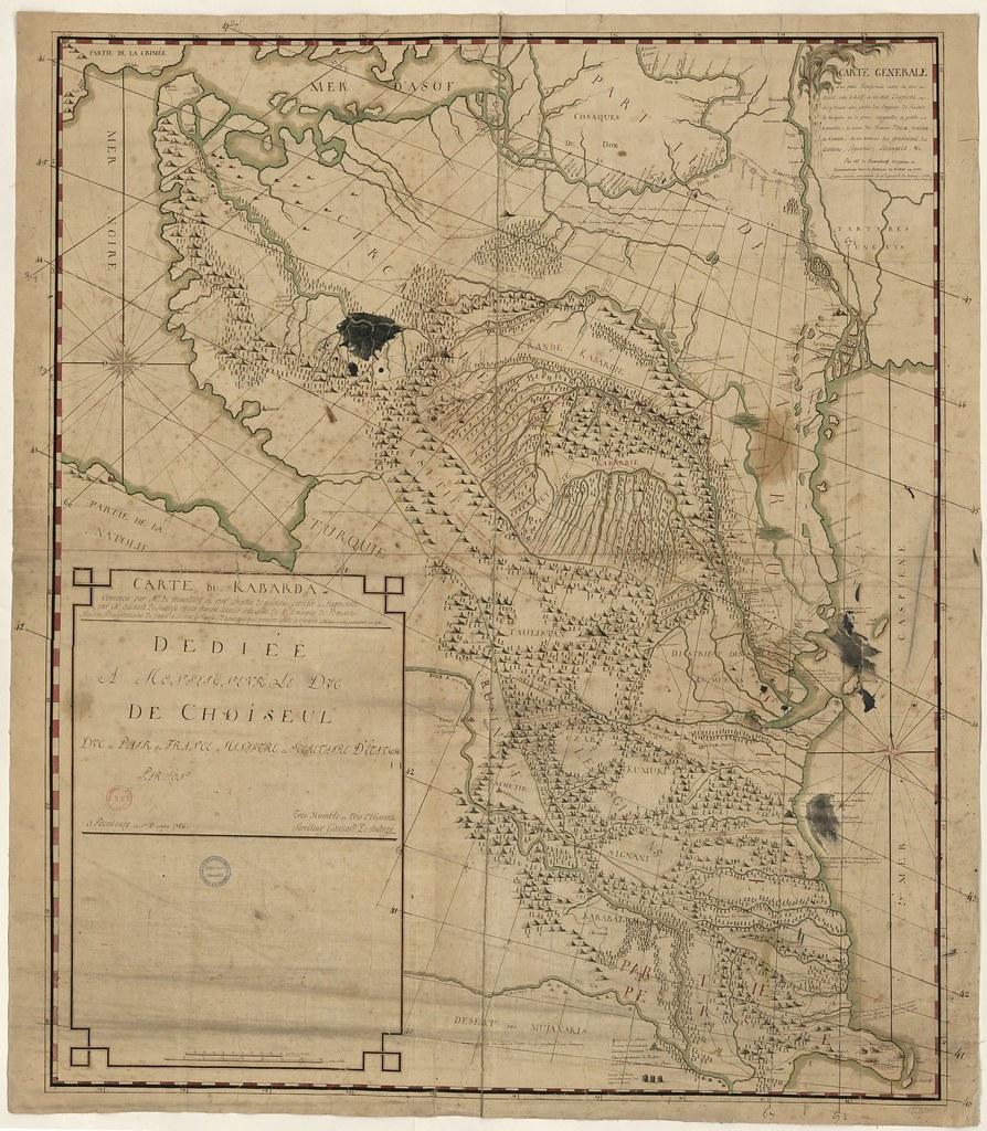 1755. Карта Кавказа