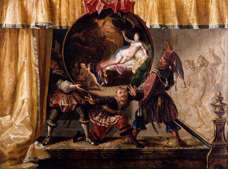 Jacques Vigoureux Duplessis - Painted Fire Screen (1700)