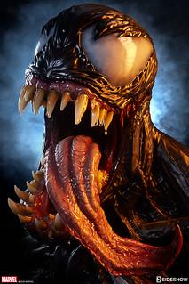 極致狂暴的威壓魄力再現!太驚人啦~ Sideshow Collectibles Marvel Comics【猛毒】Venom 1:1 比例半身胸像作品