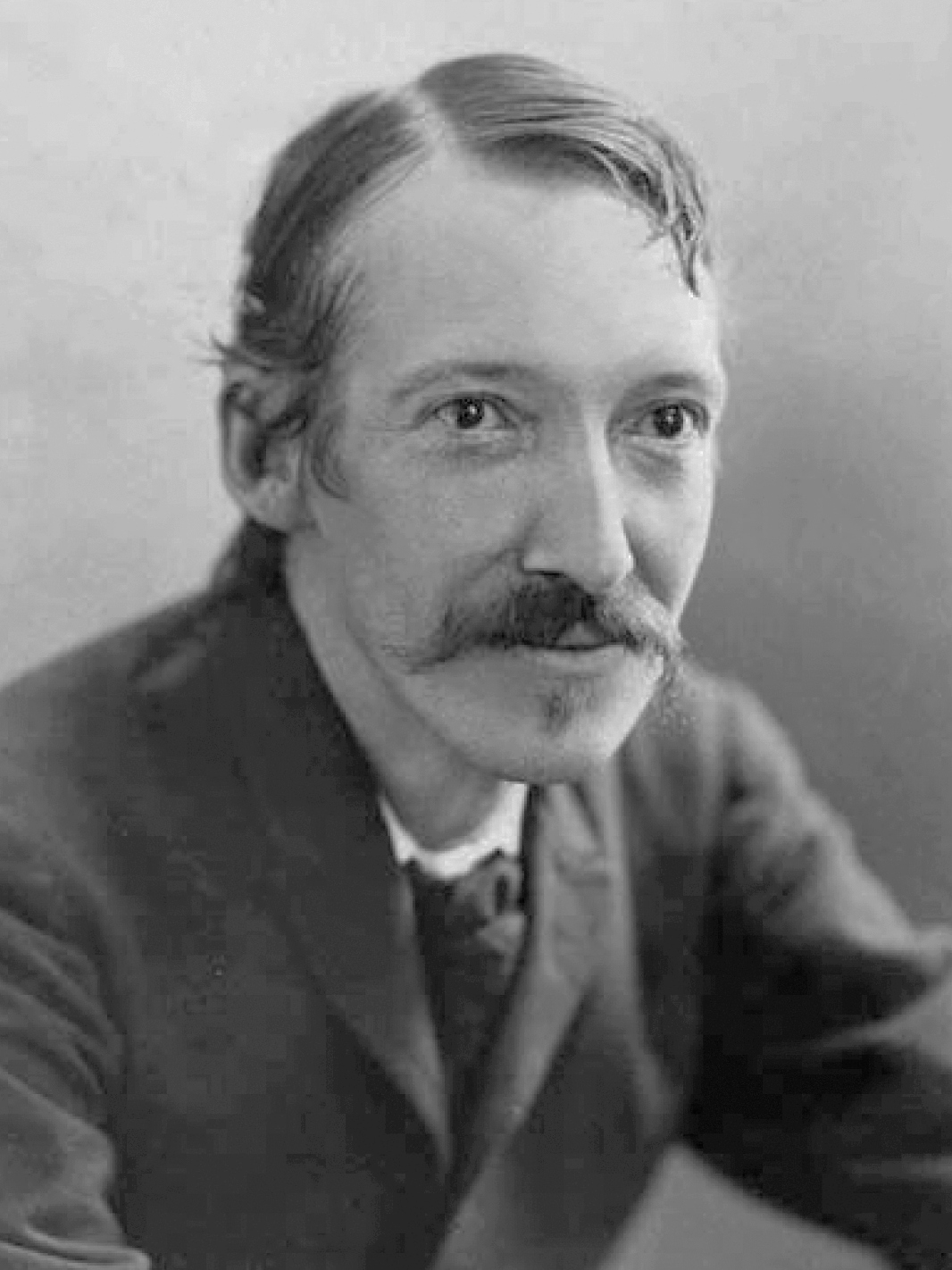 Photograph of Robert Louis Stevenson by Henry Walter Barnett , 1893. From the State Library of New South Wales.