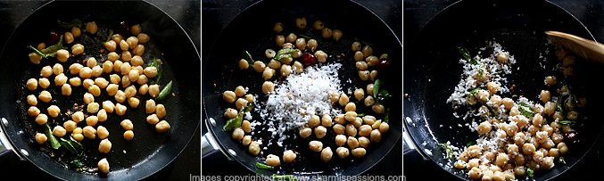 How to make channa sundal - Step2