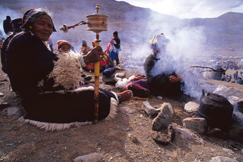Tibetische Pilger am Kailash.