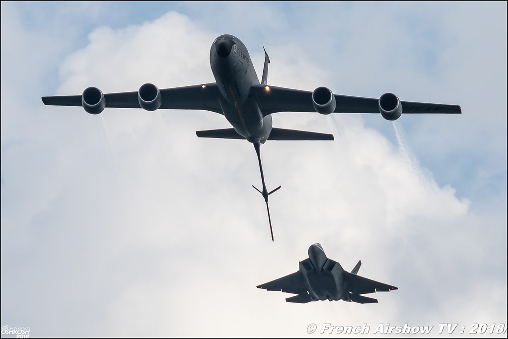 AFRC 70th Anniversary KC-135 and F-22 Raptor Team USAF EAA Oshkosh 2018