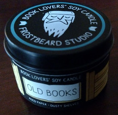 Book Lovers Old Book smell candle