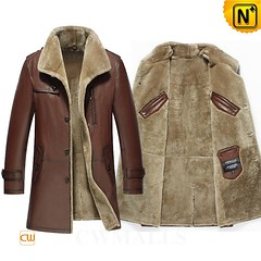 Patented Multifunctional Coat | CWMALLS® Detroit Mens Shearling Leather Coat CW858108 [Free Custom Made]