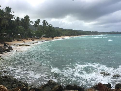 Blick auf den Sandstrand / View to sandy beach - Play Grande - Rio San Juan