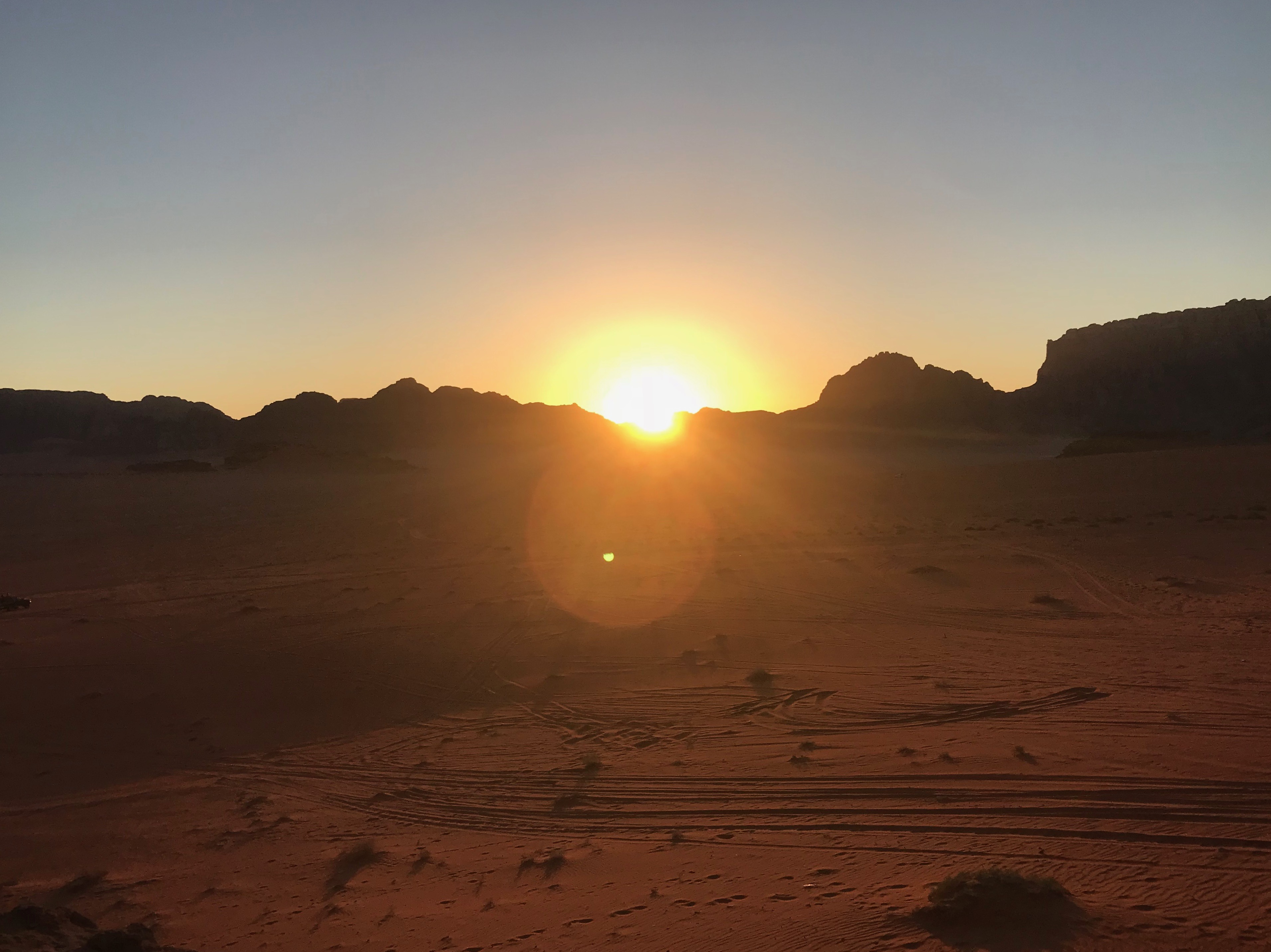 wadi rum - sunset