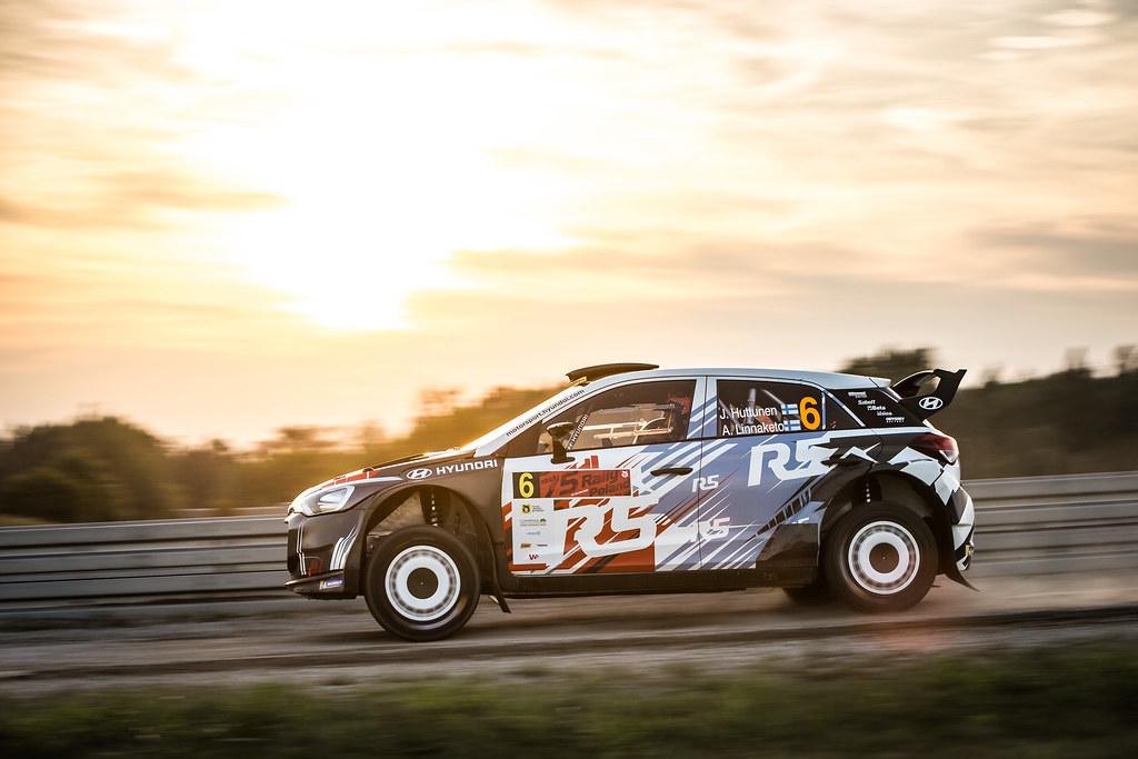 06 HUTTUNEN Jari (FIN), LINNAKETO Antti (FIN), BRC RACING TEAM, Hyundai i20 R5, action during the 2018 European Rally Championship Rally Poland at Mikolajki from September 21 to 23 - Photo Thomas Fenetre / DPPI