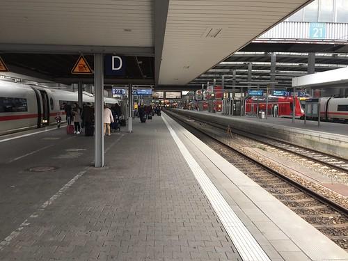 Ankunft am Münchener Hauptbahnhof