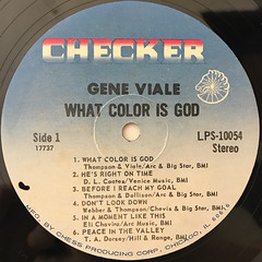 GENE VIALE:WHAT COLOR IS GOD?(LABEL SIDE-A)