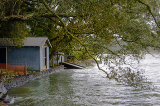 Boat sheds at Blockhouse Bay