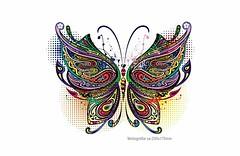 Bügelbild Schmetterling, Print Patch zum aufbügeln…