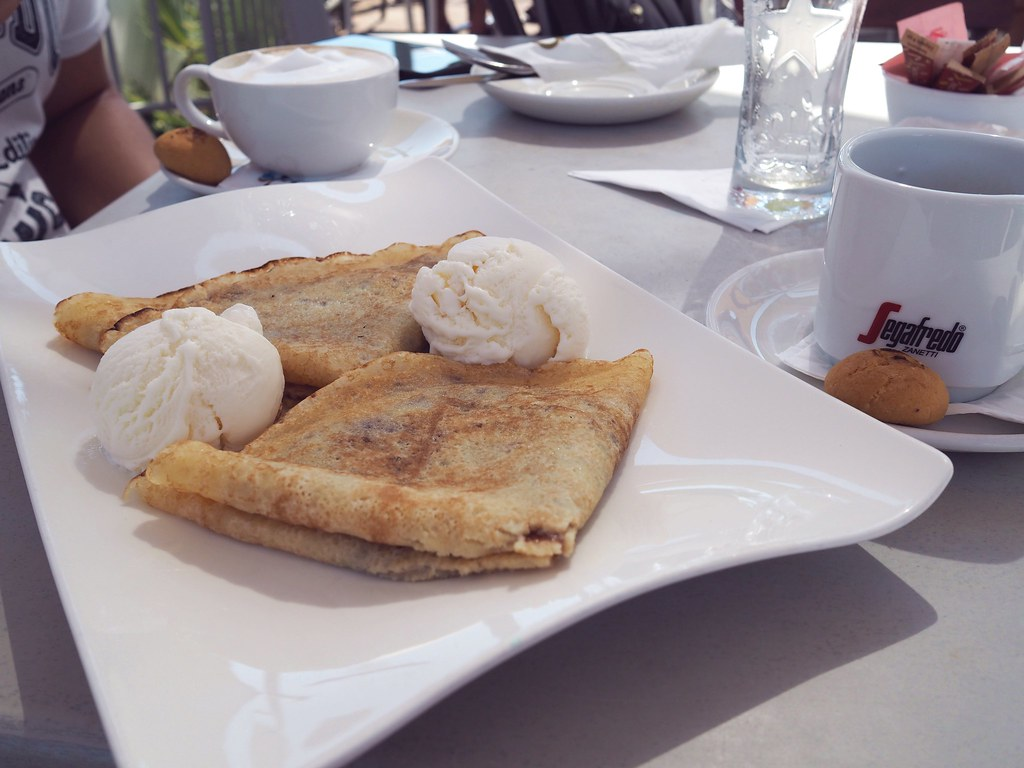 nutella ice cream crepe cyprus
