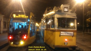 CAF Urbos3 2207 + Ganz UV 3888 Budapest-Kelenföld, 2018. 10. 29.