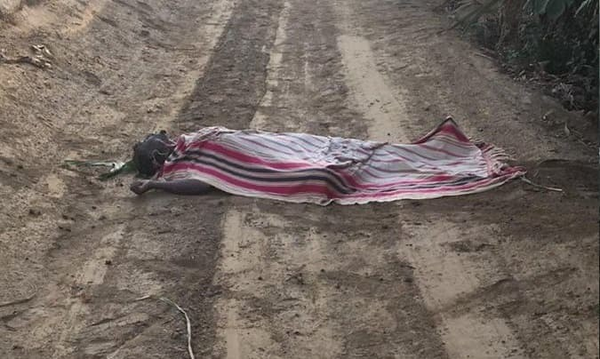 4724 Another body covered in blanket found in the middle of a highway in Asir region 01