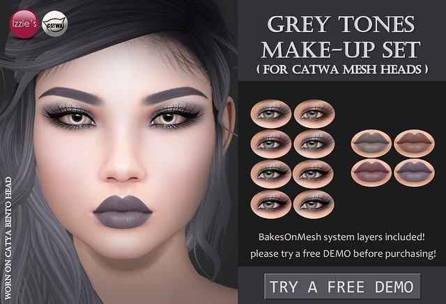 Grey Tones Make-Up Set (Catwa) for FLF